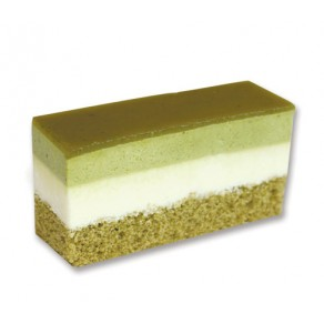 Premium Layered Green Tea Mousse Cake Slice