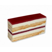 Premium Layered White Chocolate Raspberry Slice