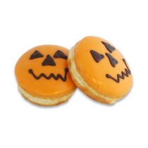 Halloween Pumpkin Face Donuts