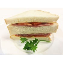 Classic Ham Cheese & Tomato on White