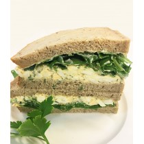 Egg Chive & Rocket Cob on Grain
