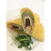 Ham Cheese & Sundried Tomato on Tomato Wrap