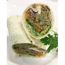Roasted Pumpkin, Falafel & Chipotle on Plain Wrap