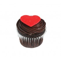 Chocolate Mud Heart Cup Cakes