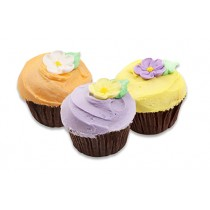 Large Cup Cakes with Flowers