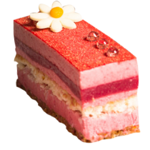 Raspberry Bavarois Slices