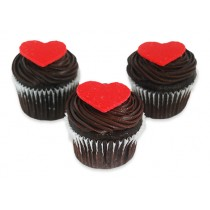 Chocolate Mud Heart Cupcakes