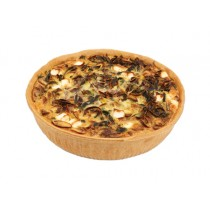 Large Mushroom, Leek and Feta Quiche