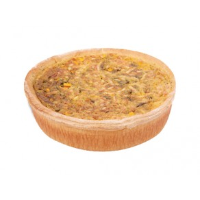 Large Pumpkin, Pesto and Pine Nuts Quiche