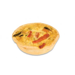 Individual Mixed Vegetable Quiche